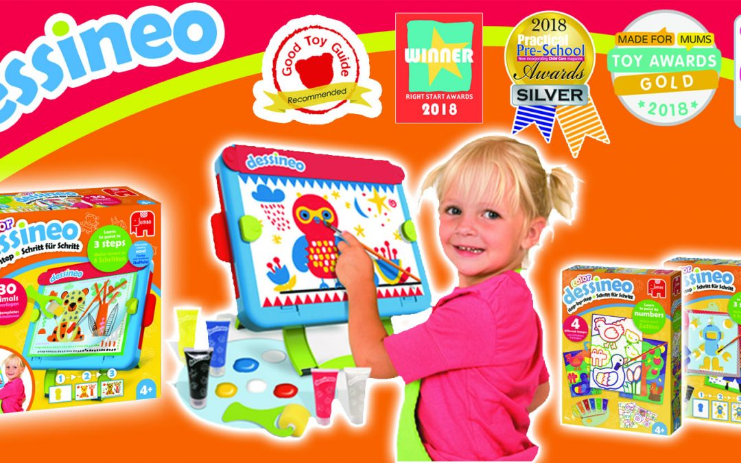 Jumbo's new Dessineo 'Learn to Paint' range scoops up seven award wins!