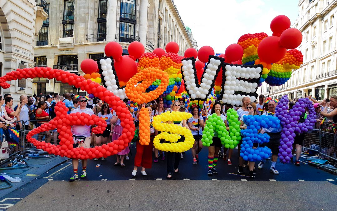 BEYOND BALLOONS AND QUALATEX KIT OUT DISNEY FOR LONDON PRIDE
