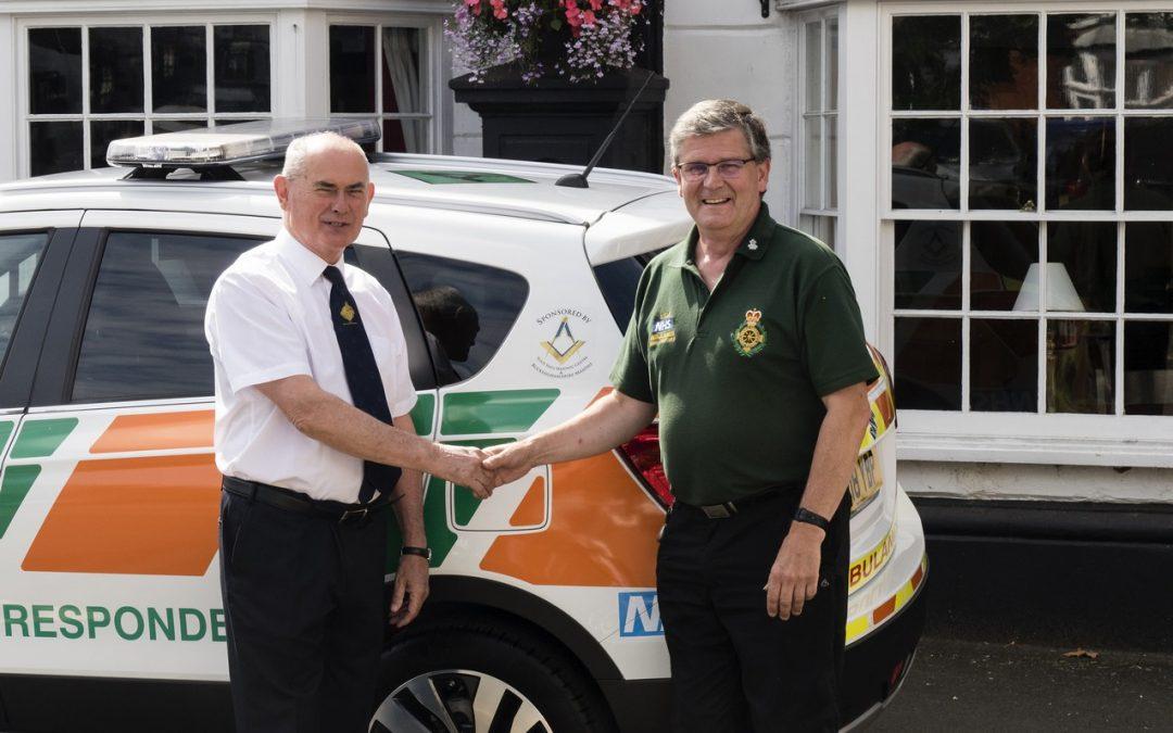 Bucks Freemasons handover First Responders Vehicle for Winslow Community